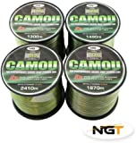 Carp & Coarse Fishing Line Camo Colour available in 8lb 10lb 12lb 15lb Breaking Strain