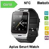 YuHan® Aplus Gv18Bluetooth inteligente reloj teléfono 1.54pulgadas GSM NFC Cámara Tarjeta SIM reloj de pulsera Smartwatch para iphone 5/5C/5S/6/6Plus Android Samsung S3/S4/S5/S6/S6Edge Nota 2/Nota 3/nota 4/nota borde HTC M8/M9Sony etc. Opción de regalo