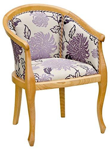 Febland Heavy Smooth Tub Chair, Fabric, Brown, 51x43x77 cm