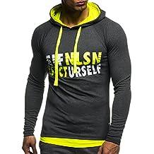 Leif Nelson Gym LN06278 – Sudadera de manga larga con capucha para hombre