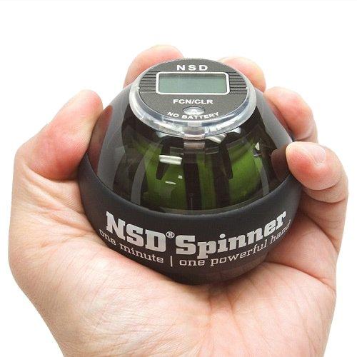 NSD Power AutoStart Spinner Gyroskopisches Handgelenk- und Unterarmtrainer mit automatischer Startfunktion, Unisex-Erwachsene, PB-688AC Black, schwarz