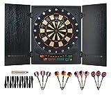 MALATEC Elektrisches Dartboard 12 Darts 175 Spiele Dartscheiben-Set Zusammenklappbar#6161