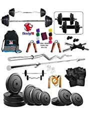 Bodyfit Bf30 Kg Weight Plates5Ft Rod3Ft Rod2 DRods Home Gym