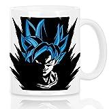 style3 Super Goku Blue God Modus Motivtasse