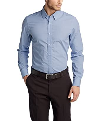 ESPRIT Collection Herren Slim Fit Businesshemd 024EO2F003 Kariertes Baumwollhemd, Gr. X-Large (Herstellergröße: 4344), Blau (BUSINESS BLUE)