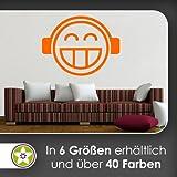 hauptsachebeklebt DJ Smiley Wandtattoo in 6 Größen - Wandaufkleber Wall Sticker