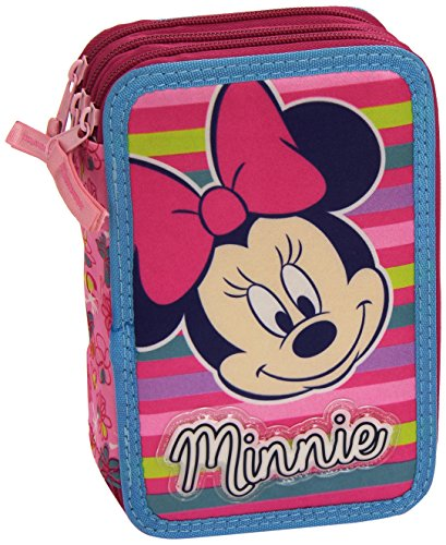 Minnie – Plumier Triple, Color Azul Marino (Cerdá 2700000099)