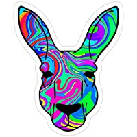 Sticker Vinyl Decal for Cars, Water Bottle, Fridge, Laptop - Colorful Kangaroo Stickers (3 Pcs/Pack)