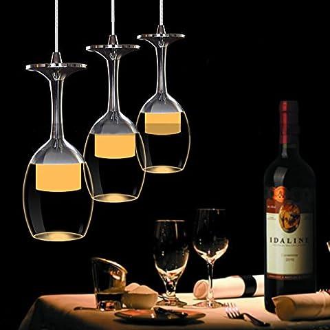 LanLan Fixture Lighting Chandelier LED Modern Minimalist Creative Wine Glass