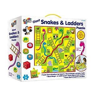 Galt America- Toys Puzle Gigante Serpientes y Escaleras 1005044