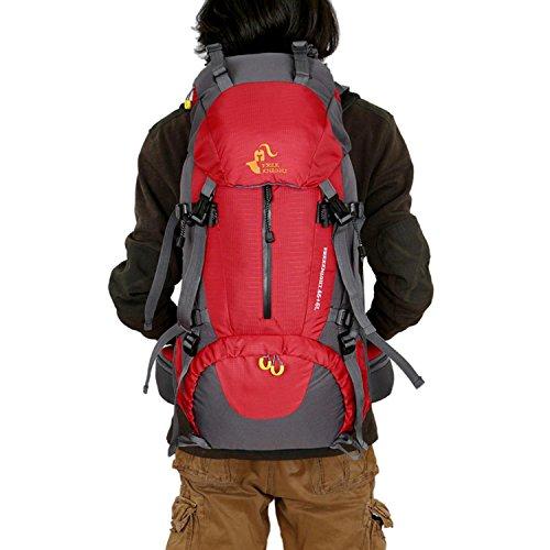 HWJDK Assault militare Escursioni Avventura Campeggio Vacanze Zaino zaino Viaggi di vacanza Mountaineering Grande borsa , red Red