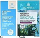 3x 75ml Dermasel Juckreiz Akut Balsam +Gratis Erholungs-Maske. Parfümfrei.