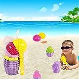 Etbotu Strandspielzeug 9 Teile / Satz Kinder Baby Strand Sand Spielzeug Eisform L?ffel Spielen Sand und Schnee Spielzeug