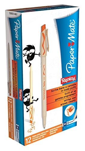 papermate-replay-penna-a-sfera-cancellabile-arancione-misura-media-1mm-scatola-da-12-pezzi