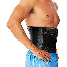 OMORC Faja Lumbar Espalda, Corrector de postura y Rehabilitación de dolor y lesiones, Doble Ajuste Para una Adaptación Perfecta para Hombre y Mujer-TALLA ÚNICA