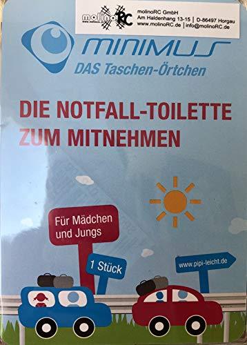 molinoRC 3X Notfall-Toilette | Wegwerf-Toilette | Urinal | Reisetoilette | Reisetoilette Notfall-WC | Kinder Buben Mädchen Erwachsene | BRD