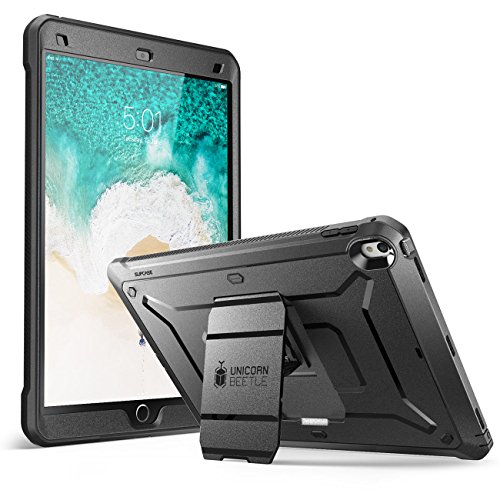 SUPCASE iPad Pro 10.5 Case 2017, [Heavy Duty] [Unicorn Beetle Pro] Full-Body Rugged Protective Case with Built-In Screen Protector Design for Apple iPad Pro 10.5 Inch 2017, Not Fit 2018 Version(Black)