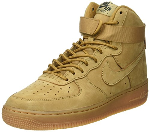 Nike Air Force 1 High '07 LV8, Scarpe da Basket Uomo Beige (Flax/Flax/Outdoor Green)
