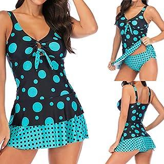 Womens Bikini Set,WSSB Women Plus Size Dot Patchwork Bikini Two Piece Swimwear Tankini Swimjupmsuit Women Swimsuit Beachwear Black