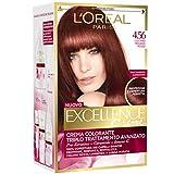 L'Oréal Paris Excellence Creme, Tinta Colorante con Triplo Trattamento Avanzato, Copre i Capelli Bianchi, 4.56 Castano Mogano Rosso