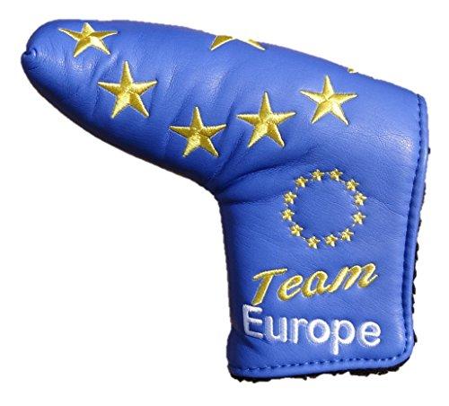 Team Europe Limited Edition blue Blade europäischen Golf Putter Cover ideal für Ping Anser oder Scotty Cameron Klinge
