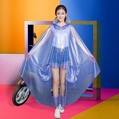 Voiture imperméable voiture électrique voiture de la batterie des femmes allongé poncho motorisé motorisé transparent gros chapeau imperméable ( Couleur : D ) G