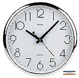 Cflagrant® Pendule Murale / Horloge Murale Silencieuse Sans Tic Tac (Pile LR6 Alcaline SONY offerte) Cflagrant®