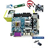 Zebronics 945 Motherboard with 2.4Ghz intel Dual Core CPU,1GB DDR2, Intel CPU FAN and USB Mouse