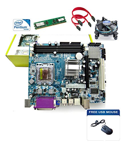 Zebronics Motherboard Kit With 2.4ghz Intel Duel Core Cpu, 1gb Ddr2 Ram & Intel Cpu Fan And Free Usb Mouse
