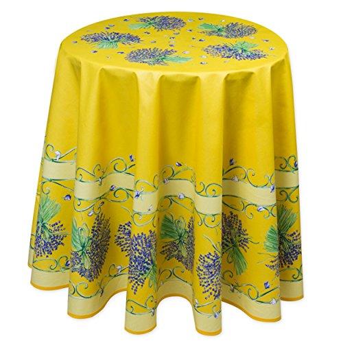 Provencetischdecke lavande jaune, 180 cm, 100 % coton provencestoffe