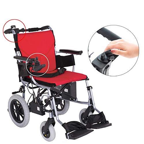 Cmn Rollstuhl/im Freien älterer Roller-elektrischer Rollstuhl, der leicht mit Batterien faltet Aufgabe stützt Flugzeuggrad-Aluminiumlegierungs-Rahmen Mehr Stärke, Aluminiumlegierung wiegt nur 15Kg,