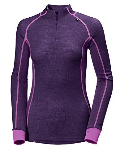 Helly Hansen W Hh Warm Freeze 1/2 Sous Vêtement Technique 1/2 Zip Femme Violet Foncé