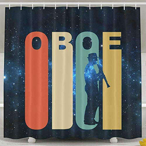 KOPPPU Retro Oboe Shower Curtain 60x72inch