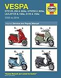 Vespa: Gts125, 250 & 300ie, Gtv250 & 300ie, Lx/Lxv125 & 150ie, S125 & 150ie 2005 to 2014