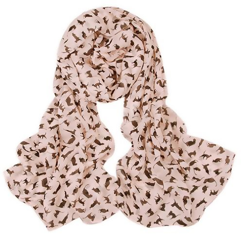 Gleader Sciarpa morbida stampa gatti scialle animali rosa