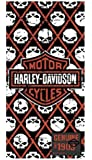 Harley-Davidson Beach Towel, Bar & Shield/Repeated Willie G Skull, 30x60in 12370