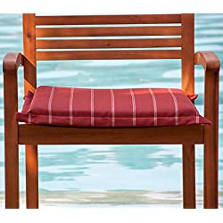 hambiente silla Cojín para sillón trenzado, funda con cremallera Residuos. Lavable Color Terracota rayas