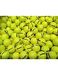 100x Nuevo 2piezas amarillo variedad pelotas de golf