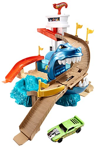 Hot Wheels Colour Shifters Sharkport Showdown Track Set
