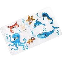 Antideslizante anti-resbalón anti-resbalón para los niños, anti-resbalón anti-bacteriano del baño Etiqueta engomada del cuarto de baño para los cabritos, sin látex, los 39cm / 15in * 70cm / 27in (azul marino)