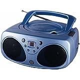 Tamashi CD 100 CB Radio CD / mp3 Tuner analogique AM/FM Stéréo Bleu