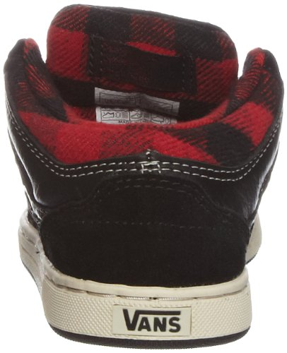 Vans Edgemont, Baskets mode mixte enfant Multicolore (weather black/red)