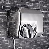 Secadora de alta velocidad,Secador de manos comercial.Acero inoxidable Sensor automático...