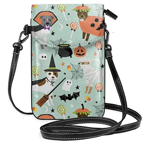best pillow Pitbull Halloween Costume Dog Cute Dogs In Design Synthetic Leather Small Crossbody Bags Cell Phone Purse Wallet Smartphone Bags For Women