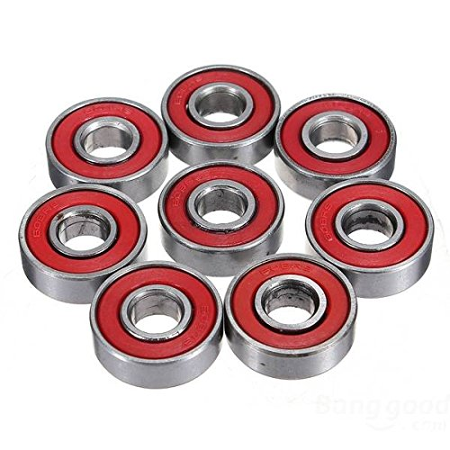 Doradus 10pcs Red Sealed Rillen Skateboard Kugellager 608 2RS 8x22x7mm