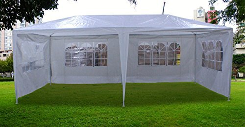 New 20'x10' Outdoor Party Wedding Tent Gazebo Events Pavilion - White by MTN Gearsmith