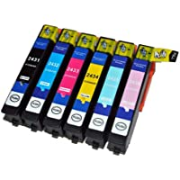 1 Sets = 6x Compatible High Capacity Ink Cartridges T2431 T2432 T2433 T2434 T2435 T2436 T2438 24XL For EPSON 24XL (ELEPHANT) SERIES Expression Photo XP-750 / XP-850 Inkjet Printers. With chip installed and will show ink levels. Contains: 1x T 2431 T 2432 T 2433 T 2434 T 2435 T 2436 (1x T 2438)