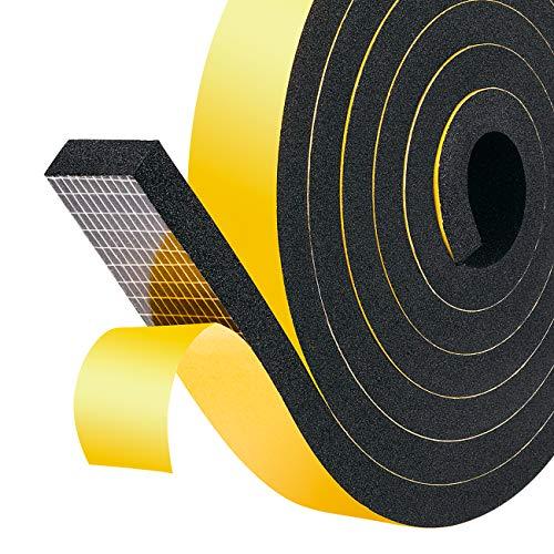 Schaumstoff Selbstklebend 25mm(B) x10mm(D) Schaumstoff Dichtungsband Fenster-Türdichtung kochheld, Moosgummi selbstklebend für Kollision Siegel Schalldämmung Gesamtlänge 4m (2 Rollen je 2m lang)