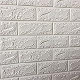 Self-adhesive brick wall sticker