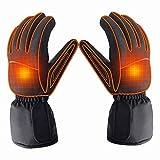 Azornic batteriebetrieben wiederaufladbar beheizbare Handschuhe für Männer/Frauen, wasserdicht isoliert Elektrische Heizung Thermo-Handschuhe für Winter Warmer Outdoor Camping Wandern Jagd